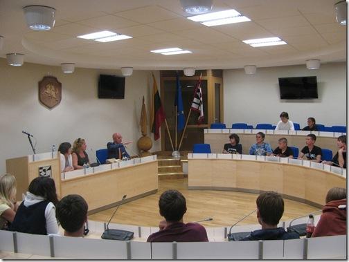 Вильнюс -  зал, где принимают правительственные делегации