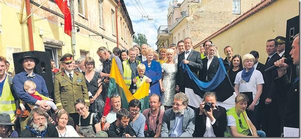 Президенты посетили Республику Ужупис